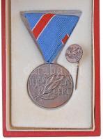 ~1970. Ifjúságért fém kitüntetés mellszalaggal, miniatűrrel, eredeti dísztokban. Szign.: Nagy István János T:1-