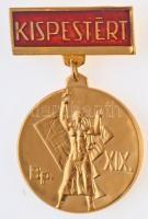 ~1970-1980. Kispestért részben zománcozott Cu kitüntetés (36mm) T:1-