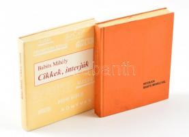 2 db minikönyv - Interjúk Babits Mihállyal + Babits Mihály: Cikkek, interjúk. Kötetenként változó kötésben és állapotban.