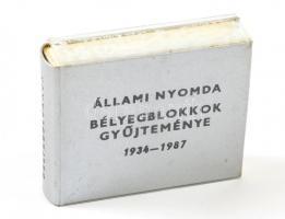 Állami Nyomda, bélyegblokkok gyűjteménye 1934-1987. Kiadói műbőr kötés, jó állapotban.