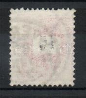 1889 15Kr részleges ívszínátnyomattal + az értékszám részleges gépszínátnyomatával