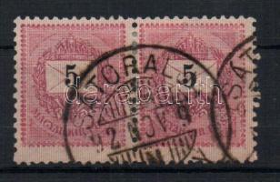 1889 Hosszúra fogazott 5Kr pár
