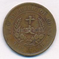 Kína 1920. 10c Cu T:2- China 1920. 10 Cash Cu C:VF