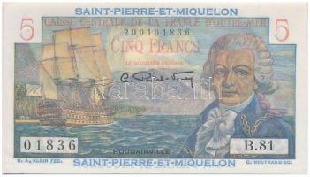 Saint Pierre és Miquelon 1950-1960. 5Fr T:I Saint Pierre and Miquelon 1950-1960. 5 Francs C:UNC Krause 22
