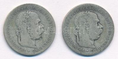 Ausztria 1894-1895. 1K Ag Ferenc József (2xklf) T:2-,3 Austria 1894-1895. 1 Corona Ag Franz Joseph (2xdiff) C:VF,F