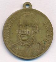 1894. Kossuth Lajos / Dicső korszak lánglelkű alkotója ezüstözött Br emlékmedál füllel (28mm) T:1- kopott ezüstözés