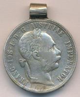 Ausztria 1879. 1Fl Ag Ferenc József T:2-,3 fül  Austria 1879. 1 Florin Ag Franz Joseph C:VF,F with ear  Krause KM#2222