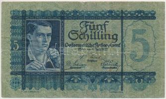 Ausztria 1927. 5Sch T:III Austria 1927. 5 Schilling C:F