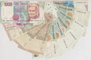 Olaszország 1982-1990. 1000L (6x) + 1985-1986. 5000L (5x) + 1984. 10.000L T:III,III- Italy 1982-1990. 1000 Lire (6x) + 1985-1986. 5000 Lire (5x) + 1984. 10.000 Lire C:F,VG