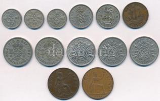 Nagy-Britannia 1935-1967. 1p-2Sh (13xklf) T:2,2- Great-Britain 1935-1967. 1 Penny - 2 Shilling (13xdiff) C:XF,VF
