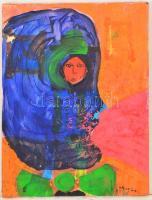 Aknay jelzéssel: Arc. Olaj, vászon, 40×30 cm