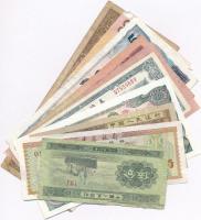 Vegyes 10db-os külföldi bankjegy tétel, köztük Kína, Tajvan, Észak-Korea T:II,III Mixed 10pcs of various banknotes, including China, Taiwan, North-Korea C:XF,F