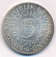NSZK 1974G 5M Ag T:1-  FRG 1974G 5 Mark Ag C:AU Krause KM#112.1