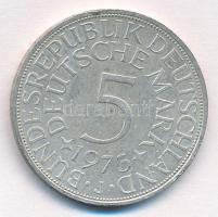 NSZK 1973J 5M Ag T:1-  FRG 1973J 5 Mark Ag C:AU Krause KM#112.1