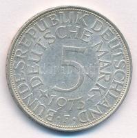 NSZK 1973F 5M Ag T:2  FRG 1973F 5 Mark Ag C:XF Krause KM#112.1