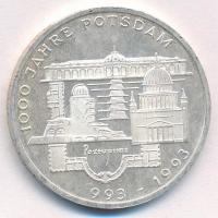 Németország 1993F 10M Ag 1000 éves Potsdam T:2(PP) Germany 1993F 10 Mark Ag 1000th Anniversary - Potsdam C:XF(PP) Krause KM#180