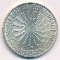 NSZK 1972D 10M Ag Müncheni Olimpia - Spirál T:1- kis FRG 1972D 10 Mark Ag Münich Olympics - Spiral C:AU  Krause KM#134.1