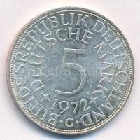 NSZK 1972G 5M Ag T:1-,2  FRG 1972G 5 Mark Ag C:AU,XF Krause KM#112.1