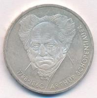 NSZK 1988D 10M Ag Arthur Schopenhauer T:2(PP) FRG 1988D 10 Mark Ag Arthur Schopenhauer C:XF(PP) Krause KM#168