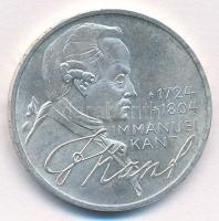 NSZK 1974D 5M Ag Immanuel Kant születésének 250. évfordulója T:2 FRG 1974D 5 Mark Ag 200th Anniversary - Birth of Immanuel Kant C:XF Krause KM#139