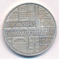 NSZK 1975F 5M Ag Európai műemlékvédelmi év T:1- patina FRG 1975F 5 Mark Ag European Monument Protection Year C:AU patina Krause KM#142.1