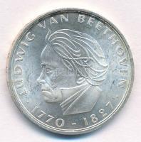 NSZK 1970F 5M Ag Ludwig van Beethoven születésének 200. évfordulója T:1- patina FRG 1970F 5 Mark Ag 200th Anniversary - Birth of Ludwig van Beethoven C:AU patina Krause KM#127