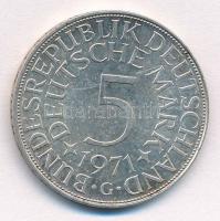 NSZK 1971G 5M Ag T:1-,2  FRG 1971G 5 Mark Ag C:AU,XF Krause KM#112.1