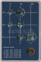 Aruba 1986. 5c-2 1/2Fl 7xklf db + Utrechti Verde zseton plasztiktokos szettben T:1 Aruba 1986. 5 Cents - 2 1/2 FLorin 7xdiff + Utrecht Mint jeton in plastic case C:UNC