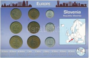Szlovénia 1993-2006.10s-10T (9xklf) forgalmi szett T:1,-1 patina Slovenia 1993-2006 10 Stotinov - 10 Tolarjev (9xdiff) coin set C:UNC,AU patina