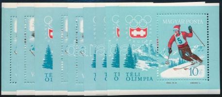 1964 10 db Téli Olimpia Innsbruck blokk (10.000)