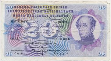 Svájc 1974. 20Fr T:III Switzerland 1974. 20 Franken C:F Krause 46.v