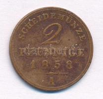 Német Államok / Schaumburg-Lippe 1858A 2pf Cu T:2- German States / Schaumburg-Lippe 1858A 2 Pfennig Cu C:VF  Krause KM#40