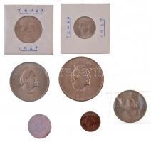 Tonga 1967. 1s-1P (7xklf) forgalmi sor, tok nélkül T:1,1- Tonga 1967. 1 Seniti - 1 Paanga (7xdiff) coin set without case C:UNC,AU