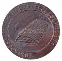 DN Budapest XI. kerülete fejlesztéséért egyoldalas öntött Br emlékérem (68mm) T:2
