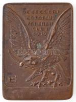 ~1920-1930. Debreceni Egyetemi Athletikai Club 1919 Br emlékérem (37x50mm) T:2 hátoldalán forrasztásnyom