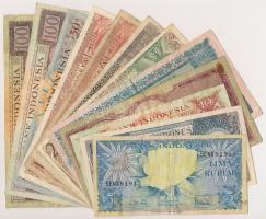 Indonézia 1957. 50R + 100R + 1958. 10R + 25R + 50R + 100R (2x) + 1959. 5R + 10R + 50R + 100R (2x) T:III Indonesia 1957. 50 Rupiah + 100 Rupiah + 1958. 10 Rupiah + 25 Rupiah + 50 Rupiah + 100 Rupiah (2x) + 1959. 5 Rupiah + 10 Rupiah + 50 Rupiah + 100 Rupiah (2x) C:F Krause 50, 51, 56, 57, 58, 59, 65, 66, 68, 69