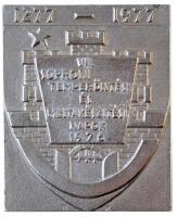 1976. VII. Soproni Temperöntési és Mintakészítési Napok 1976 fém plakett (82x100mm) T:2