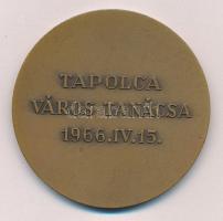 Iván István (1905-1968) 1966. Tapolca Város Tanácsa Br emlékérem (60mm) T:2