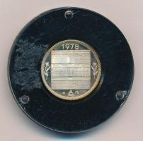 1978. Naptár Ag bélyegérem műanyag tokban (~5,5g/0.835/24mm) T:PP patina