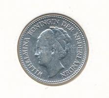 Hollandia 1930. 1/2G Ag I. Vilma T:2 Netherlands 1930. 1/2 Gulden Ag Wilhelmina I C:XF