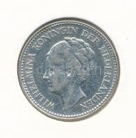 Hollandia 1929. 1/2G Ag I. Vilma T:2 Netherlands 1929. 1/2 Gulden Ag Wilhelmina I C:XF