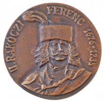 DN II. Rákóczi Ferenc 1676-1735 / Rákóczi Szövetség kétoldalas, öntött Br emlékérem (79mm) T:2