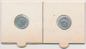 Hollandia 1936-1937. 10c Ag (2x) I. Vilma T:2 Netherlands 1936-1937. 10 Cents Ag (2x) Wilhelmina I C:XF Krause KM#163