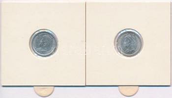 Hollandia 1915-1921. 10c (2x) Ag I. Vilma T:1-,2 Netherlands 1915-1921. 10 Cents (2x) Ag Wilhelmina I C:AU,XF Krause KM#145