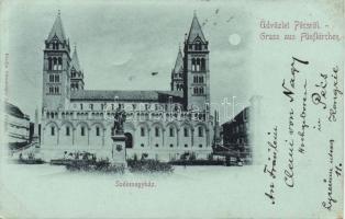 1899 Pécs, székesegyház, Grünsperger Lajos kiadása
