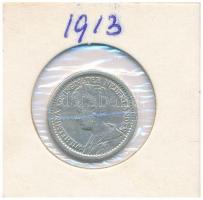 Hollandia 1913. 1/2G Ag I. Vilma T:2,2-  Netherlands 1913. 1/2 Gulden Wilhelmina C:XF,VF Krause KM#147