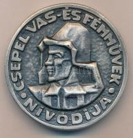 DN Csepel Vas- és Fémművek nívódíja, nagyalakú kétoldalas fém emlékplakett tokban (69mm) T:2