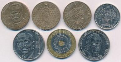 Franciaország 1985-1995. 1-10Fr (7xklf) forgalmi emlékkiadások T:2 France 1985-1995. 1 - 10 Francs (7xdiff) commemorative issues C:XF