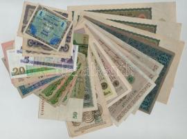 Vegyes 32db-os külföldi bankjegy tétel, köztük Osztrák-Magyar Monarchia, Német Harmadik Birodalom, NDK T:I,II,III,-III Mixed 32pcs of various banknotes, including Austro-Hungarian Monarchy, German Third Reich,GDR C:UNC,XF,F,VG