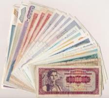 Jugoszlávia 1955-1993. 20 db-os vegyes bankjegy tétel T:II-III- Yugoslavia 1955-1993. 20pcs of various banknotes C:XF-VG
